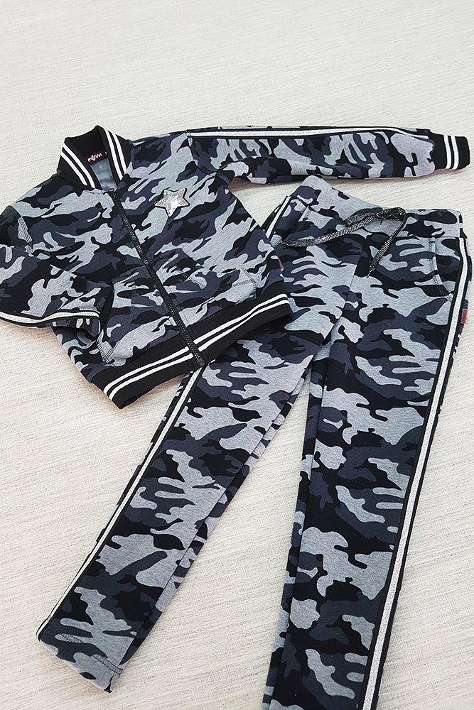 c4e895e5870238 🥋Дитячий теплий спортивний костюм дівчинці • камуфляж >> КУПИТИ ...