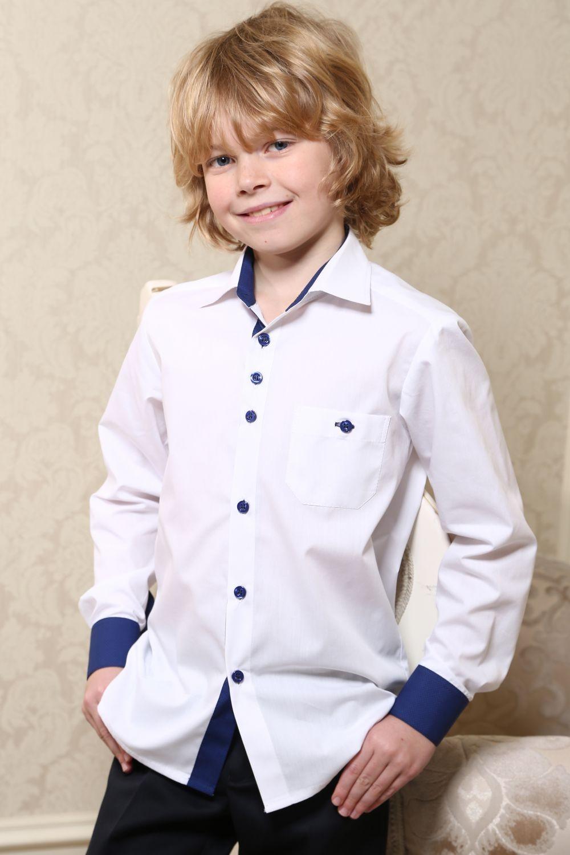 🥋Шкільна сорочка для хлопчика • біла з синім оздобленням    КУПИТИ 59be59083b71f