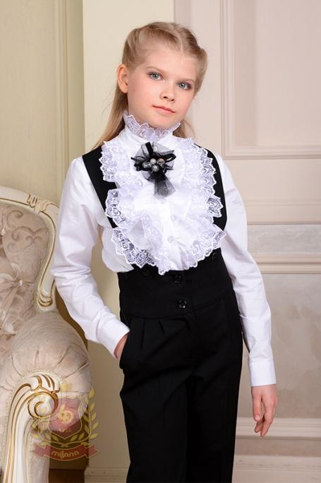 Блуза с двойным