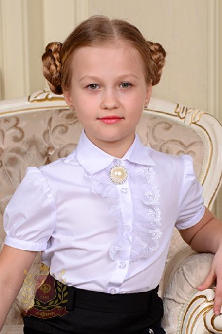 Блуза с кружевным
