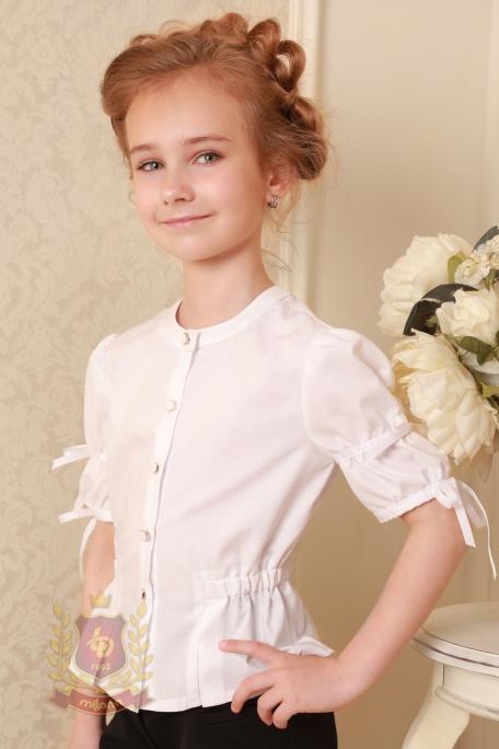 Блуза с коротким рукавом для девочки