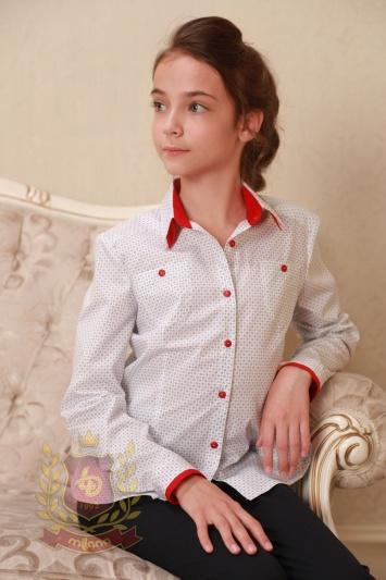 Блуза с красным воротником «Milana Red»