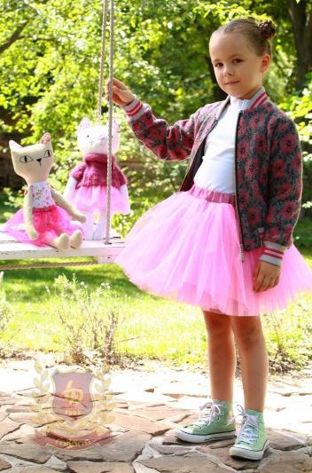 Куртка «бомбер» розовая