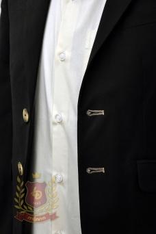 Пиджак с заплатками черный