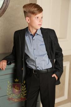Пиджак школьный джинсовый черный