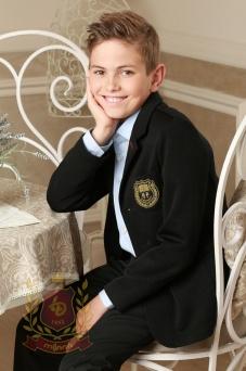 Пиджак для мальчика трикотажный черный