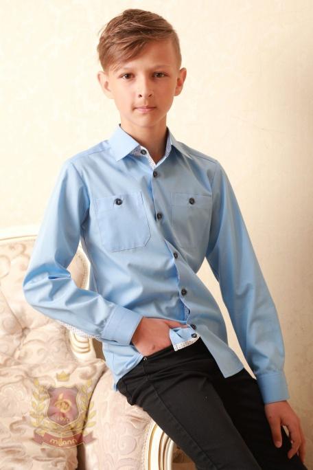Рубашка в стиле Casual голубая