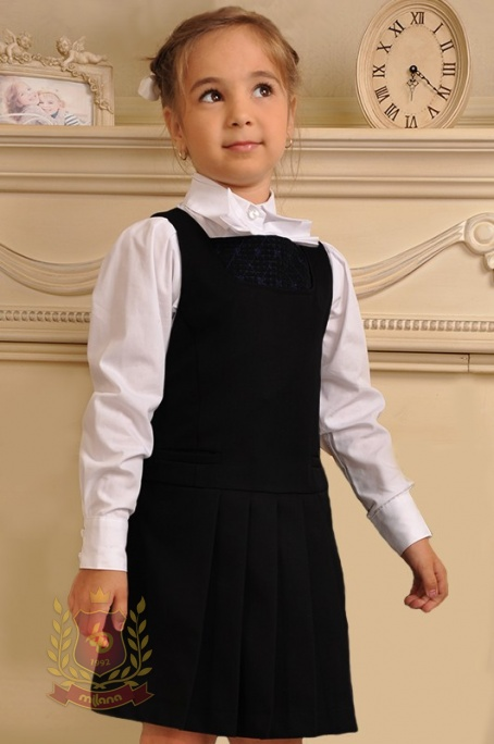 Сарафан полушерстяной с вышивкой черный