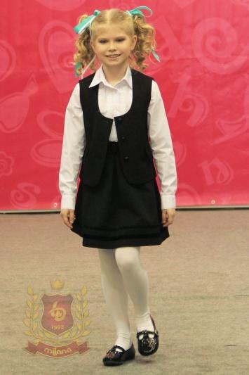 Юбка с жилетом черные для девочки