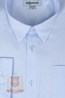 Рубашка голубая в полоску