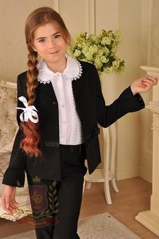 Жакет с декоративными манжетами черный